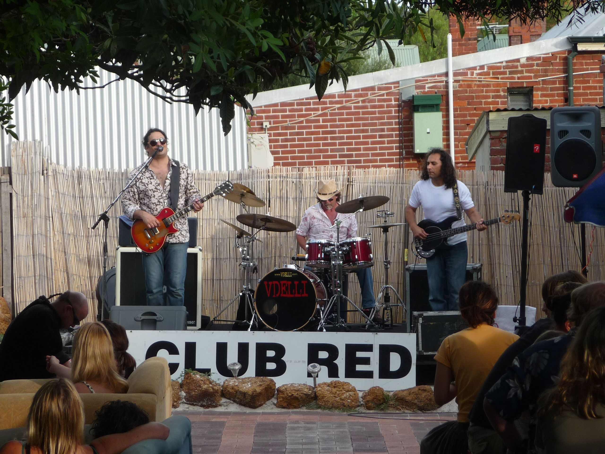 Blues/Rock band Vdelli at a Club Red event
