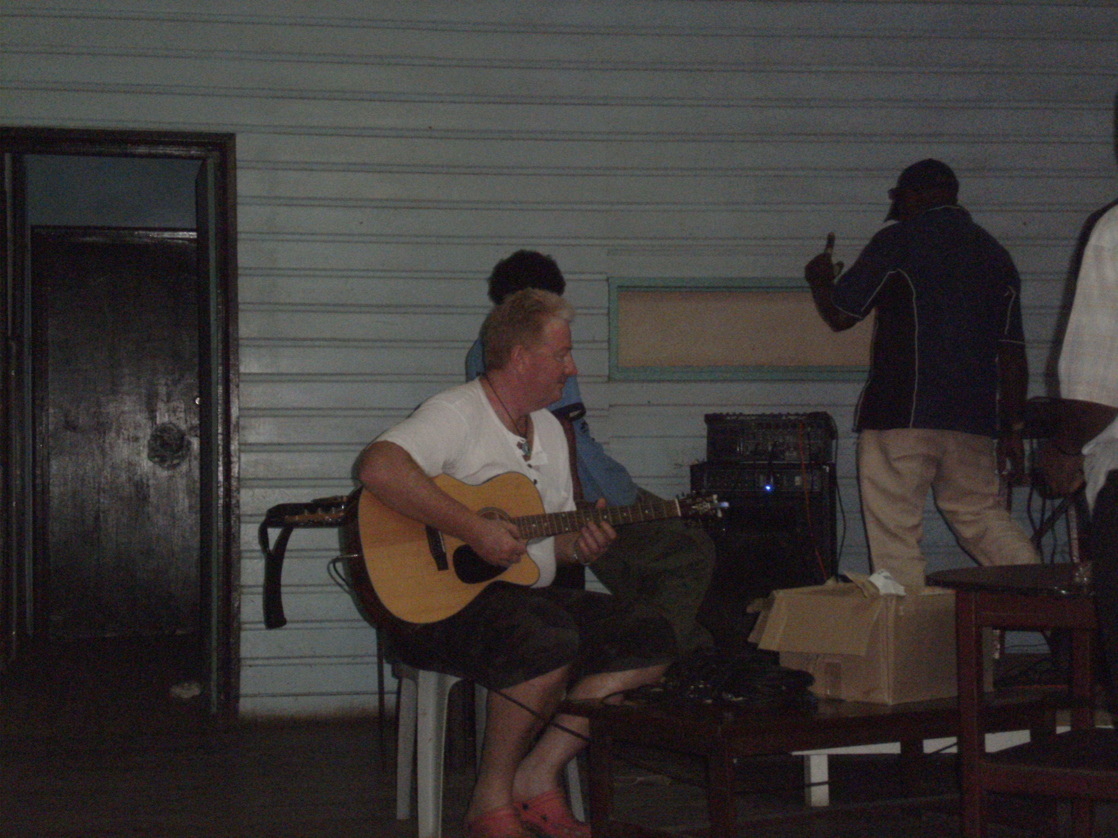 Kavieng Club House Band, PNG with guest musician Tony Inman