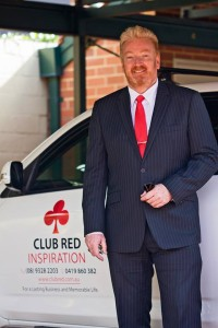 Coach, Author and Presenter, Tony Inman is the founder of Club Red Inspiration